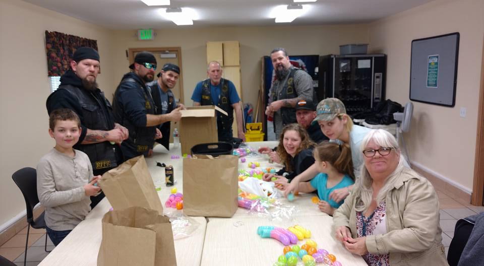 Volunteers Getting Easter Eggs Ready