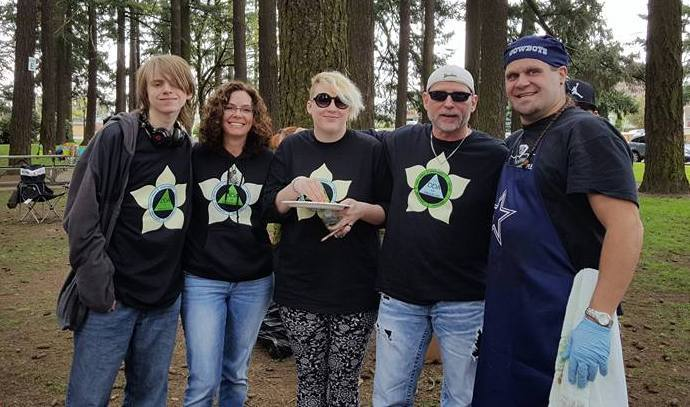 Photo of Shawn Bower, Doyal Smith and others at the Iron Tribe Easter Egg Hunt event, March 2016