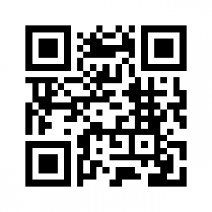 Iron Tribe Network website URL QR Code - black and white scannable square