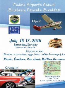 Mulino bluberry festival flyer july 16, 2016