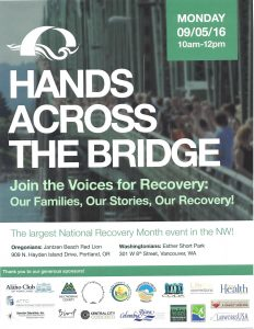 Hands Across the Bridge Flyer 2016