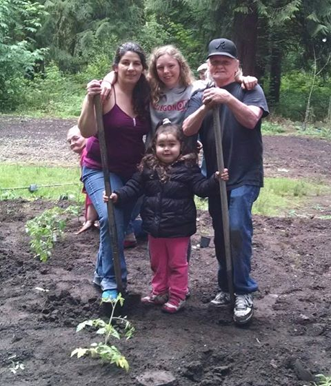 2015 Planting Ceremony with people at CEDARS