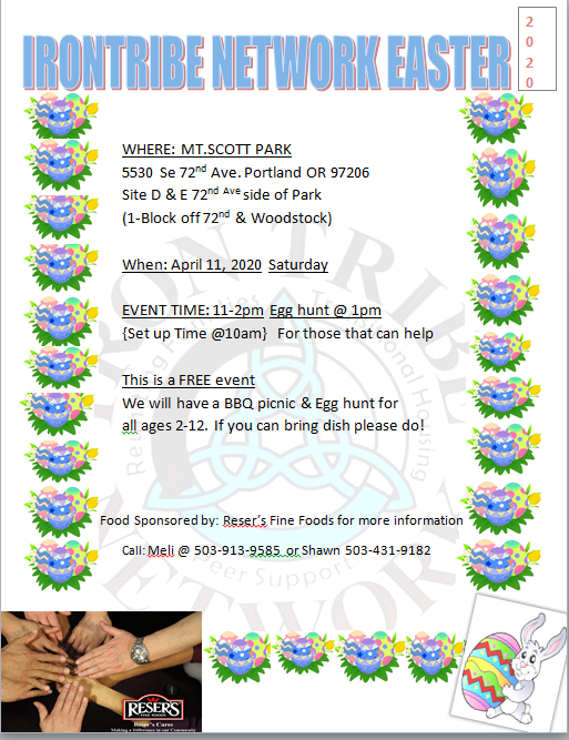 ITN Annual Easter Egg Hunt 2020 @ Mt Scott Park - Site D & E