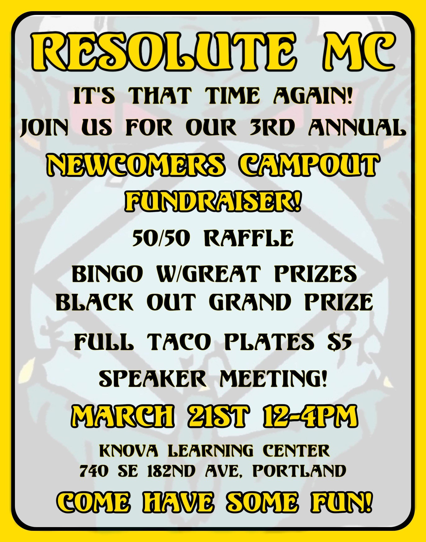 Flyer for March 21st Fundraiser Event